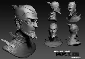 Radio bust sculpt by Boris-Dyatlov