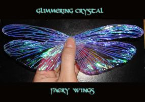 Glimering crystal faery wings by S0WIL0