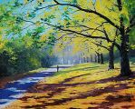 Autumn trees by artsaus