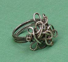 Silver Chaos Ring by AniqueDesigns