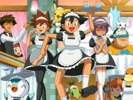 Pokemon Maid Service by xXSydneySinisterXx