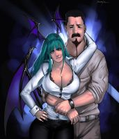Morrigan And Stanley Commish 2 by megaween