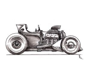 Old school style racer sketch by SteveGolliotVillers