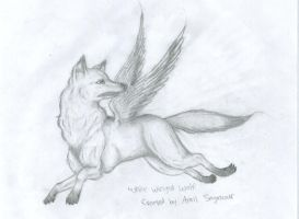 White Winged Wolf by Puppykat