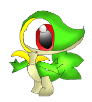 Chibi Snivy by Blackbirdo29