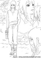Sketch Sasuke for doujinshi Night Flower by byBlackRose