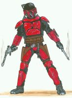 Mando pistolero for RPG- red by Kuk-Man