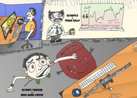The comical office of trading by optionsclickblogart