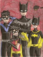 Batman Family by LeighTheLoser