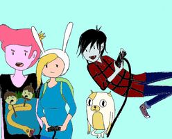 Video Games with Fionna and Cake - Colored by katygrace