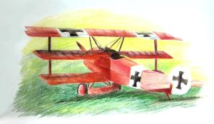 Fokker DR1 'Red Baron' by SirKittenpaws