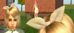 The sims 2 - Rin transparent bow Download by Cinzia-chan