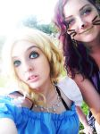 Alice and The Cat by artemisroseshadow