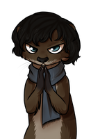 Thinking otter by ninetail-fox