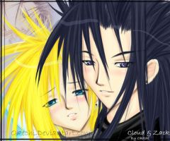 Cloud and Zack by Okechi