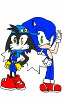 Sonic and Klonoa by SonaleeTheHedgehog23