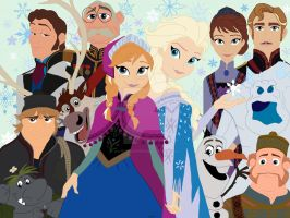 Frozen collage colored by KateyECooper