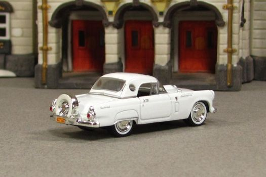 1956 Ford Thunderbird - white r - Motormax by Deanomite17703