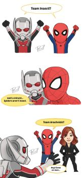 Team Arachnids! by pencilHead7