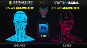 Facial Geometry Shapes X lines by BFXWalker