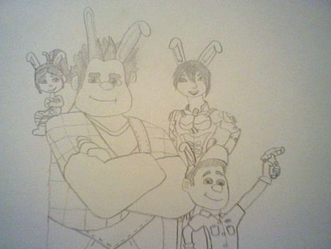 Have a wreckin awsome easter (work in progress) by icewolf14