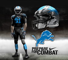 Detroit Lions Black Alternate by DrunkenMoonkey