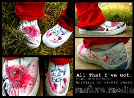 All That I've Got shoes. by ILoveAllThePoison