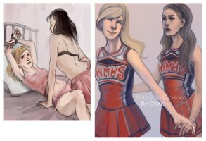 Brittana Glee by MeryChess