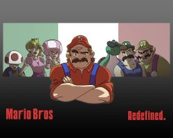 Mario Bros. Redefined by LightBombMike