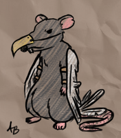Rat with wings by OutOfTheAshes95