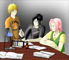 Team seven Chemistry class by shinimegami86