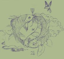 Pisces Sketch by ObloquyCondemed