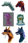 A Collection of Monstrous Busts by Waift