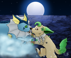 Kirara and Kobolt: Contest by geckoZen