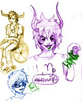 Homestuck Sketches by killedmyhopes