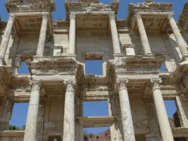 library of celsus by the-rope