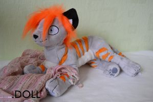 Murphy 12 inch cat plush by dot-DOLL