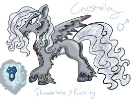 Crystallos(RarityxThunderlane DTA) by Chickfila-Chick