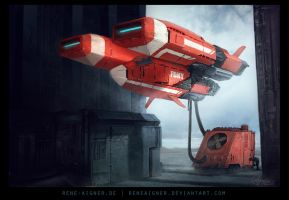 SciFi Fire Engine by ReneAigner