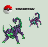 SKORPEON: Redrawn by IceCatDemon