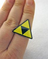 Triforce Adjustable Ring by egyptianruin