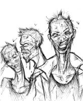 Work Sketch Zombies by RyanMcMurry