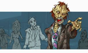 zombie living dead by Gib-Pinups-And-Toons