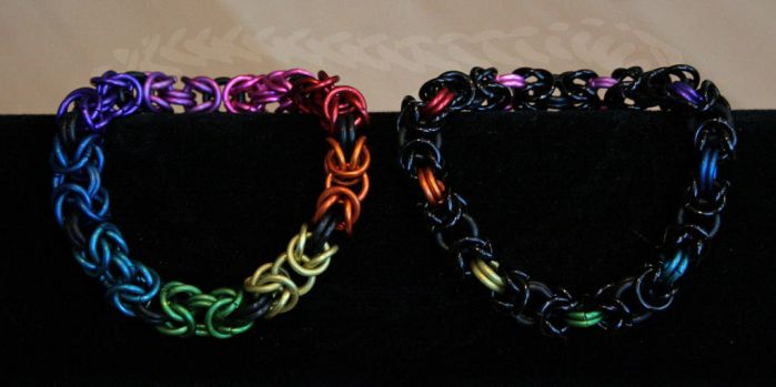Rainbow Byzantine Bracelets - For Sale by Ichi-Black