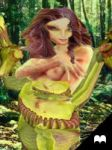 Carnivorous plant Dryad girl 2 by Cyberalbi