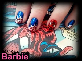 Spider-Man Nails by BarbieNailArt