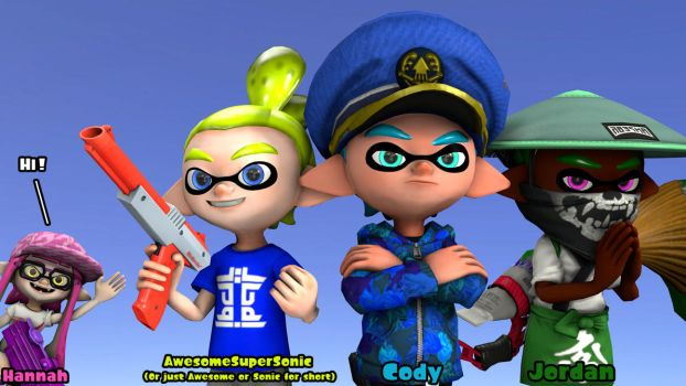 Meet the Sokudo Squid Squad by AwesomeSuperSonic