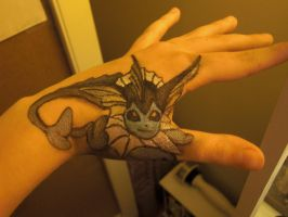 Vaporeon Body Art :D by ElizabethDiehl