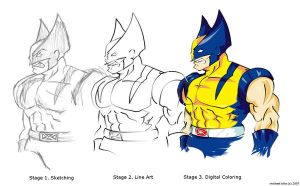 wolverine_various_stages by mikecka