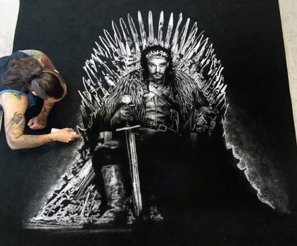 Jon Snow made with Salt by AtomiccircuS